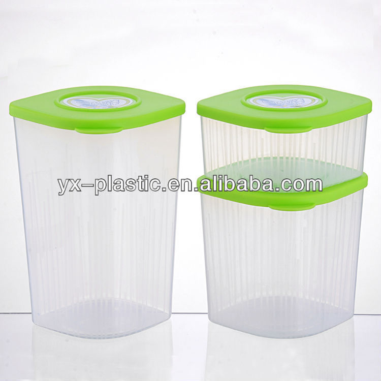 kitchen clear square plastic food storage canisters set zak designs meeme mini stackable kitchen canister clear