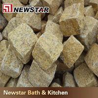 Newstar natural yellow granite cobblestone for sale