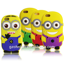 3d silicon rubber minion despicable me phone case for iphone 5c