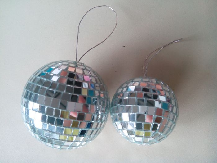 Wholesale clear glass christmas mirror ball decoration big