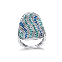 2015 New Design SWA Element Crystal Ring Free Shipping Curve Shaped Austrian Crystal Ring For Women High Quality Ring R204