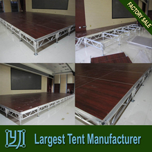 Cheap Portable Dance Stage, Aluminum wooden Wedding Stage