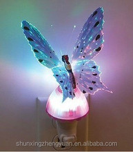 2015 fairy and popular butterfly led night lights with plug