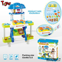 2015 pretend play big kitchen toy plastic toy house