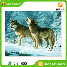 Diy Round Diamond Painting With Wolves In The Snow Canvas Paintings For Bedroom