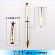 Gold plating clip exclusive metal pen