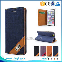 Stylish Wallet Style Canvas Grid pu leather flip cover case for Nokia Lumia 950 xl