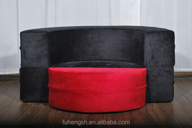 Red And Black Comfortable Round Futon Sofa Bed Buy Futon