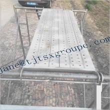 Tianjin TSX STK400 metal personalizado gancho plataforma de trabalho para andaimes