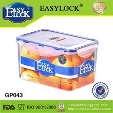 Easylock home storage houseware plastic food container