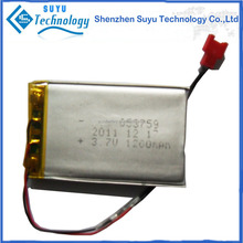 053759 1200mah 3.7v smart rechargeable li-polymer battery
