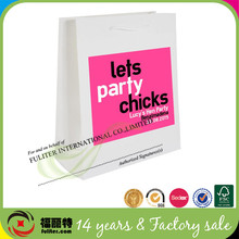 Custom printed gift paper hen party bag cheap party bag