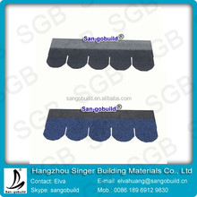High quality Fish-Scale Fiberglass Asphalt Shingle tiles for construction building materials
