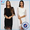 New model girls dress Women Lace Dress patterns lace applique dresses