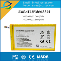 china manufacturer high capacity cell phone battery for ZTE Li3834T43P3h965844