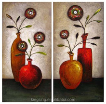 Hang Oil Paintings Group Flower Oil Paintings On Canvas Pictures HT 8713