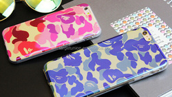 2015 latest case for iphone 5 5s 6 6pluscase camouflage soft cell phone cover case shiny surface