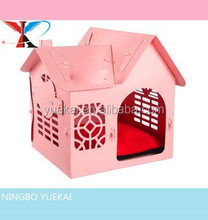 Pawhut Folding Pet Carrier House Dog Cat Bed Travel Tote Kennel Home w/ Pad