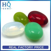 Milky Colored Oval Gemstones Wholesale China Glass Cabochon