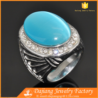 blue opal inlay titanium men ring for gay,custom design available small MOQ titanium gay ring