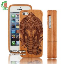 Latest Popular Design Hot Selling Real Cherry Wood Case For iPhone 5 Case