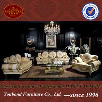 10020 2014 Luxury gold Dubai sofa latest sofa design living room sofa