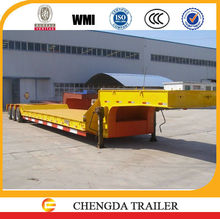 ccc quality Semi-trailer factory low bed semi tractor trailer tri-axle semi trailer with spring ramp
