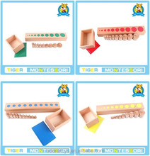 Th Montessori wooden toys.Montessori materials-Cylinder Block (Set of 4).high quality New Montessori equipments