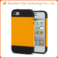 Mobile phone fully body clear screen protector soft TPU PC case for iPhone 4s