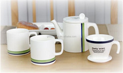 Daily use Microwave and safe ceramic silver tea set