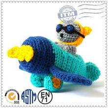 2015 perfect design and high quality knit stuffed animals