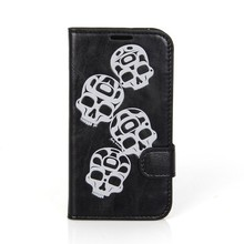 Excellet quality black PU leather mobile phone flip cover for Samsung Galaxy S4