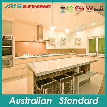 AIS-KC-177 Beautiful durable dinning room kitchen cabinets with quartz bench top island