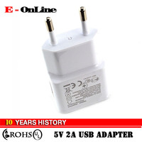 New EU plug Adapter 5V 2A EU USB Wall Charger Mobile phone charger Galaxy S5 Note4 N9000 mobile phone charger