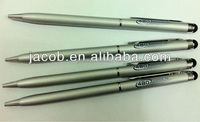touch screen stylus metal pen 500pcs with customize logo free shipping