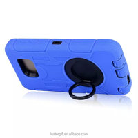 For IPHONE &SUMSUNG\colorful mobile phone back cover\ finger ring stand phonecase\silicon+PC tank style phonecase