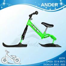 2015 BSCI factory modern kids 2 in 1 ski bike / balance bike ski for winter fun / CE snow toy / snow Scooter