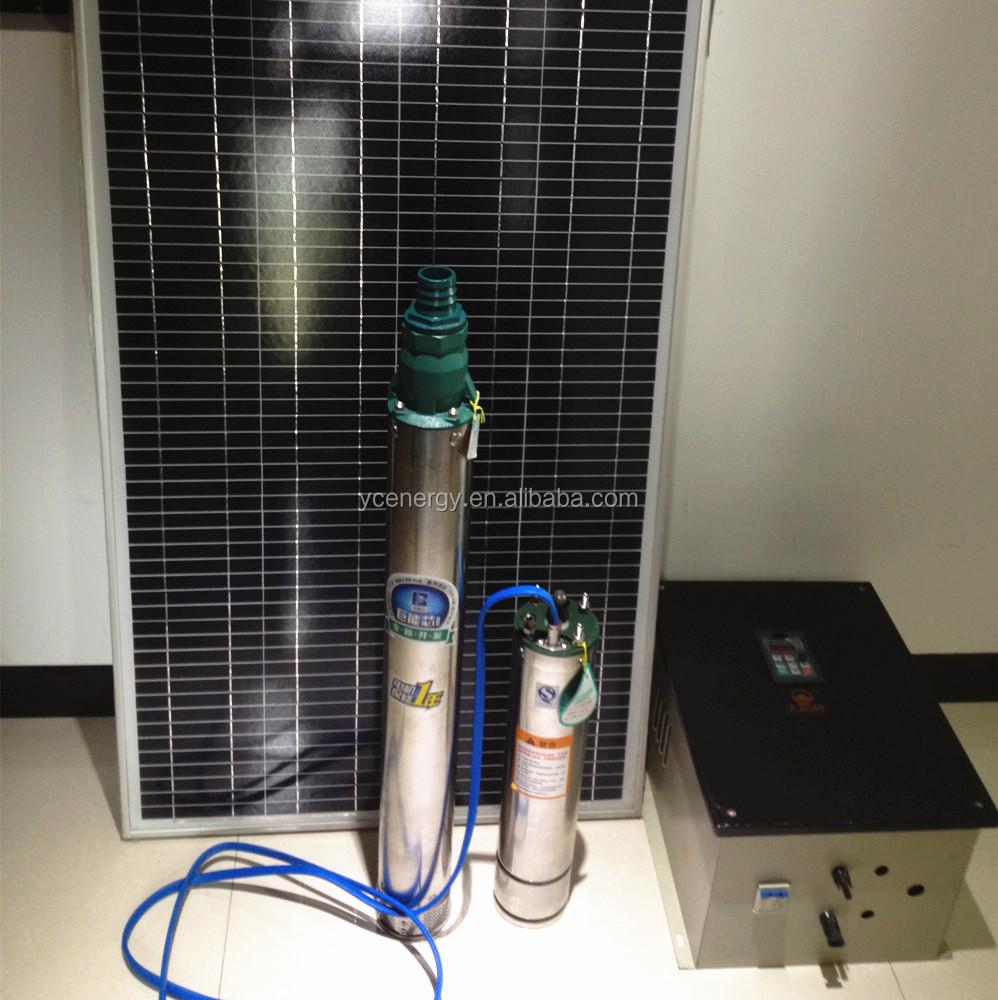Максимальный напор лифт 570 фут(ов) ( футы ) 17 tons / ч солнечной водяной насос для сельского хозяйства орошения DC / AC погружные глубокий колодец насос