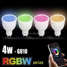 2015 Intelligent led light hone lighting bulb wireless gu10 rgb bulb color flash change gu10 base light