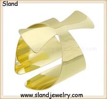 wholesale high quality adjustable Gold Upper Armband Bangle Cuff/arm cuff statement jewelry/unique cross design metal bracelet