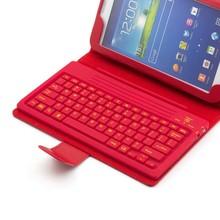 Bluetooth Wireless Keyboard Leather Case for Samsung Galaxy Tab2 7.0 P3100 P3110