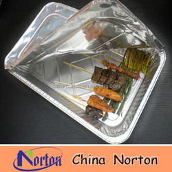 healthy silver aluminum laminated foil container with lids NTP- ALF204B