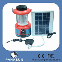 solar rechargeable led lantern for camping and outdoor with solar panel and 36pcs led light