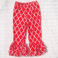 New Arrival wholesale adult baby pants Cotton ruffle pants baby clothing busha baby pants