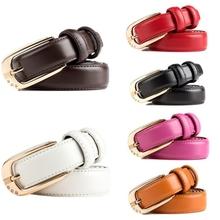 Fashion Metal Pin Buckle Genuine Leather Women Belts