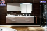 double bowl antique bathroom corner cabinet vanity white