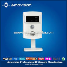 Amovision(Model QF501) - Home security IR 1.0 Megapixel SD Card Slot Wireless IP cube Camera P2P