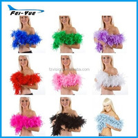 Factory supply 2 Meters 80g Colourful Marabou Wedding party feather boa