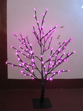 LED Pink Cherry Tree Blossom Light, artificial led tree