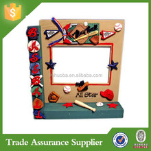 Cheap Custom Resin Baseball Photo Frame